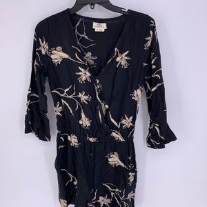 ONEILL ROMPER Jumpsuit Long Sleeve Floral Shorts